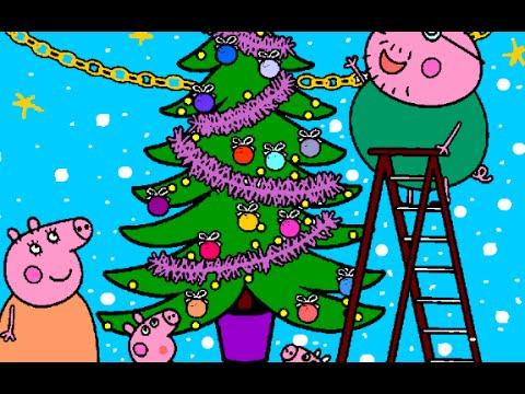 Juegos De Peppa Pig Para Colorear Juegos De Peppa Pig En Español La Navidad Con Peppa Pig