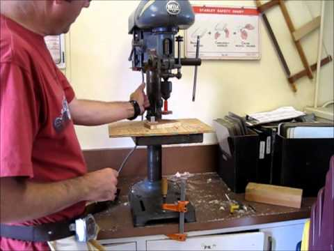 How To Use The Drill Press Youtube