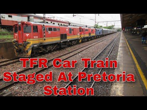 Transnet Car Train Staged at Pretoria Station