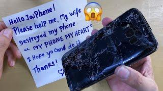 Destroyed Phone restoration   Restore Samsung Galaxy S8 Plus   Rebuild Broken Phone