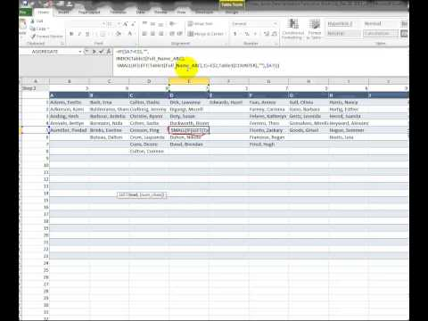 Video 00065 Customized and Sorted Data Validation List_Step 2