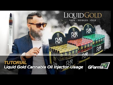 Refilling your Vape Cartridges with Liquid Gold Cannabis Oil Injector