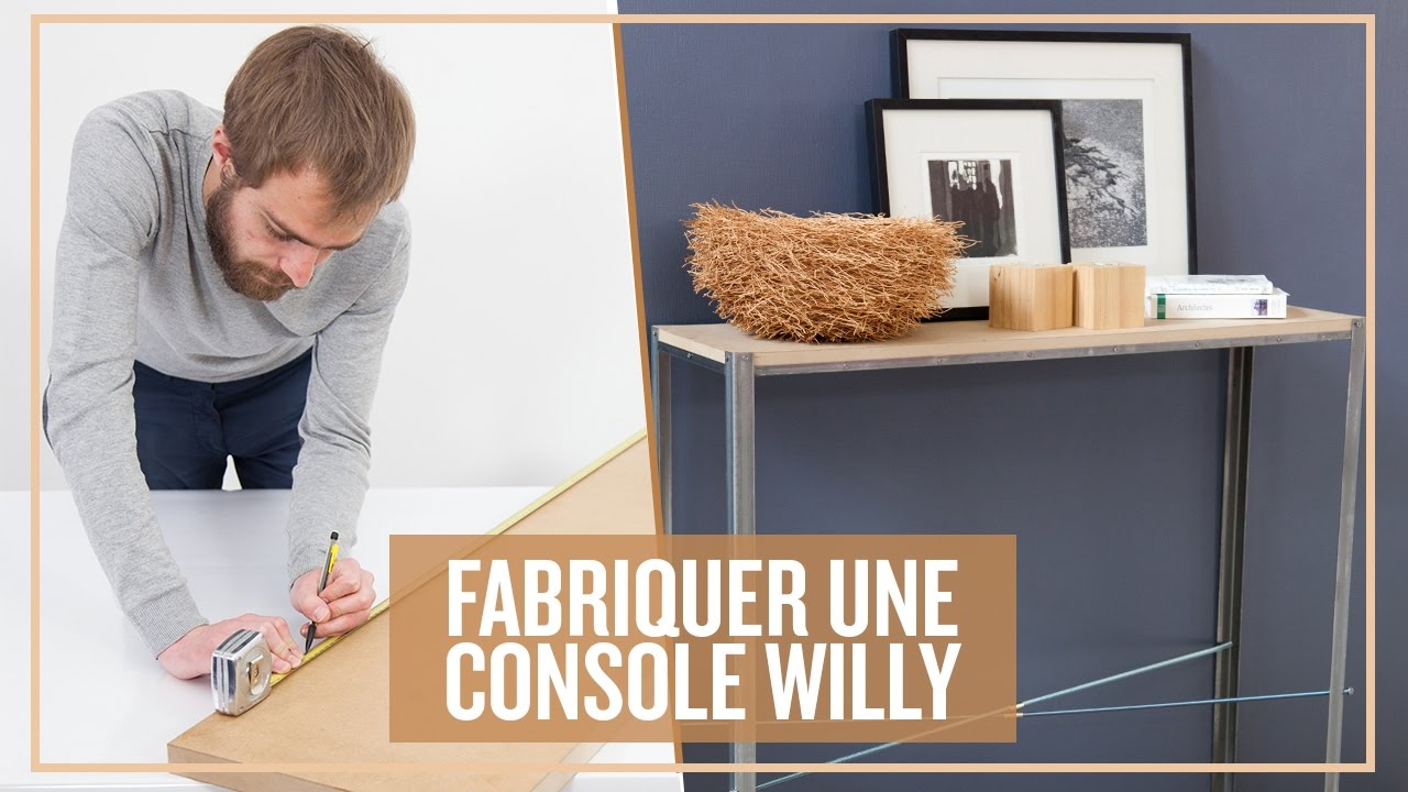 Gut bekannt Fabriquer une console WILLY - YouTube QX31