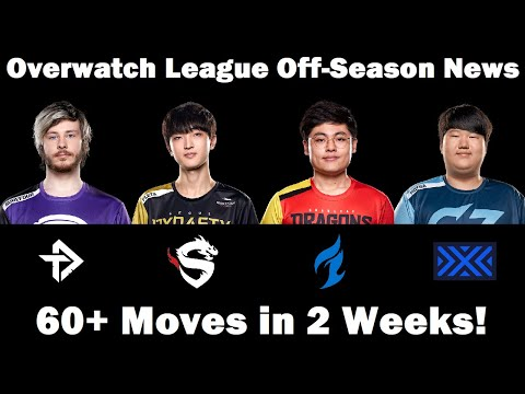 Overwatch League Off-Season News: 60+ Moves In 2 Weeks!