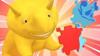 Обучающий мультфильм -  Учим континенты - Учимся вместе с Дино | Обучающие видео для детей
