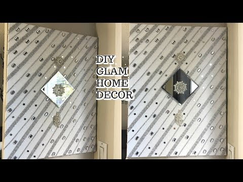 💎💎DIY GLAM WALL  ART DECOR | DIY GLAM HOME DECOR IDEAS FOR LESS 💎💎