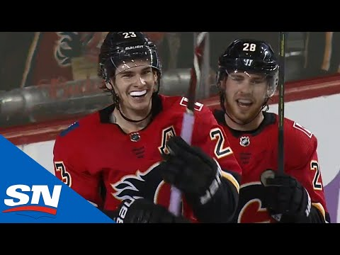 Calgary Flames Light Up Golden Knights For Five Goals In The First Period