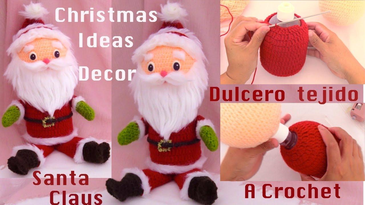 Felicitaciones De Navidad Youtube 2019.Tutorial Navidad Santa Claus Dulcero Con Material Reciclado Ideas De Adornos Navidenos