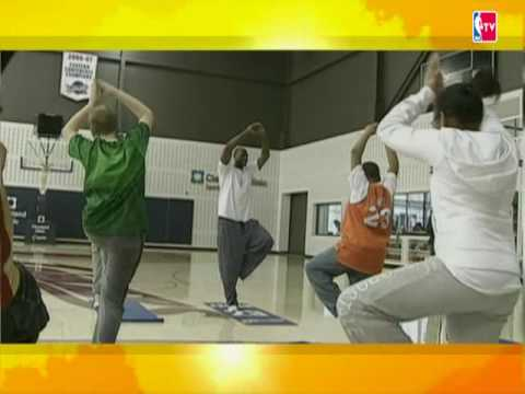 LeBron Shows His Yoga Skills During NBA Cares Event