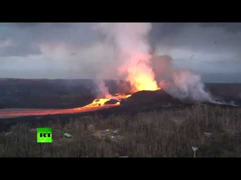 More Apocalyptic Scenes: Kilauea volcano lava river flows in Hawaii