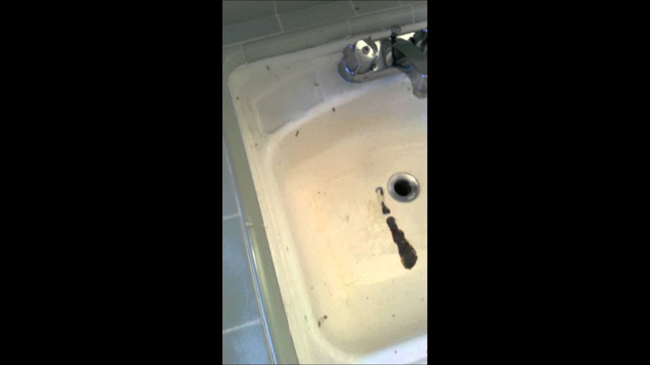 Bathroom Sink Refinish Before - YouTube