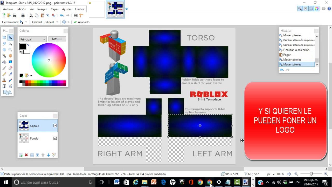 Como Hacer Tus Shirts En Roblox!!! Con BC 2017 En Español ...