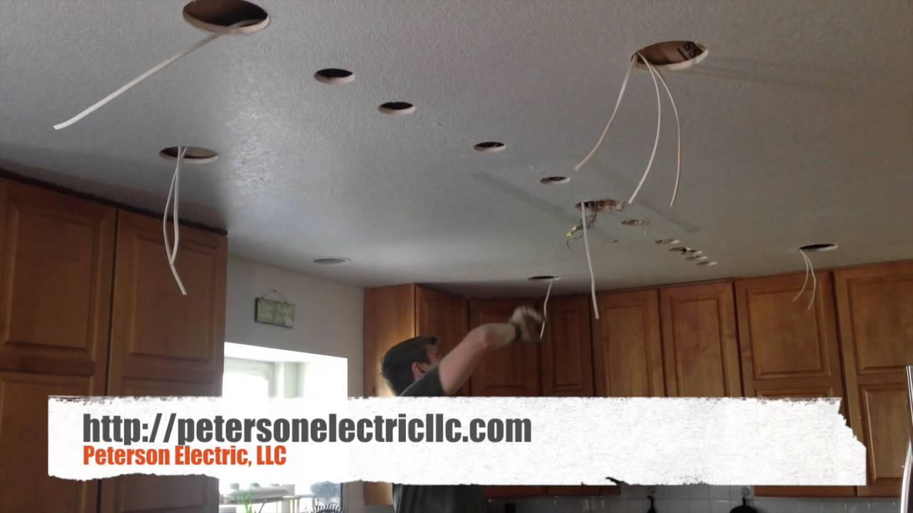 Drywall Damage When Installing Recessed Can Lights In Finish Area Of Your House Youtube