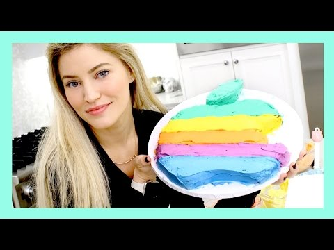 Happy Birthday, Steve Jobs! How to make a vintage Apple Logo Cake! | iJustine