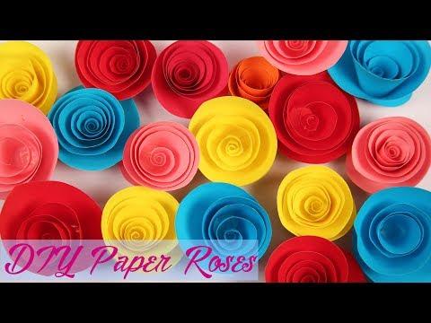 DIY Paper Rose   Easy Paper Flower Rose Tutorial   Handmade Flower For Decoration   Craft Hacks