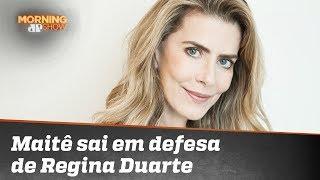 Maitê Proença sai em defesa de Regina Duarte após treta com Zé de Abreu