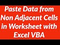 Automatically copy paste data from non adjacent cells in sheet1 to sheet2 with VBA