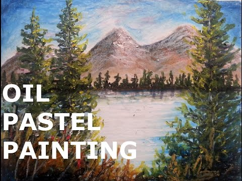 Pastel tutorial | How to paint a landscape with oil pastel | LONG VERSION