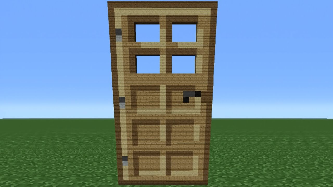How to make a door in Minecraft - recommendations for beginners