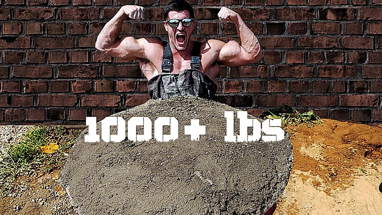 Escaping being Encased in 1000+ Pounds of CONCRETE Challenge | Bodybuilder VS Extreme Cement Test