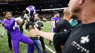 After the minnesota vikings overtime win, stefon diggs did choppa style at end of game but pictures made it seem like was sean payton