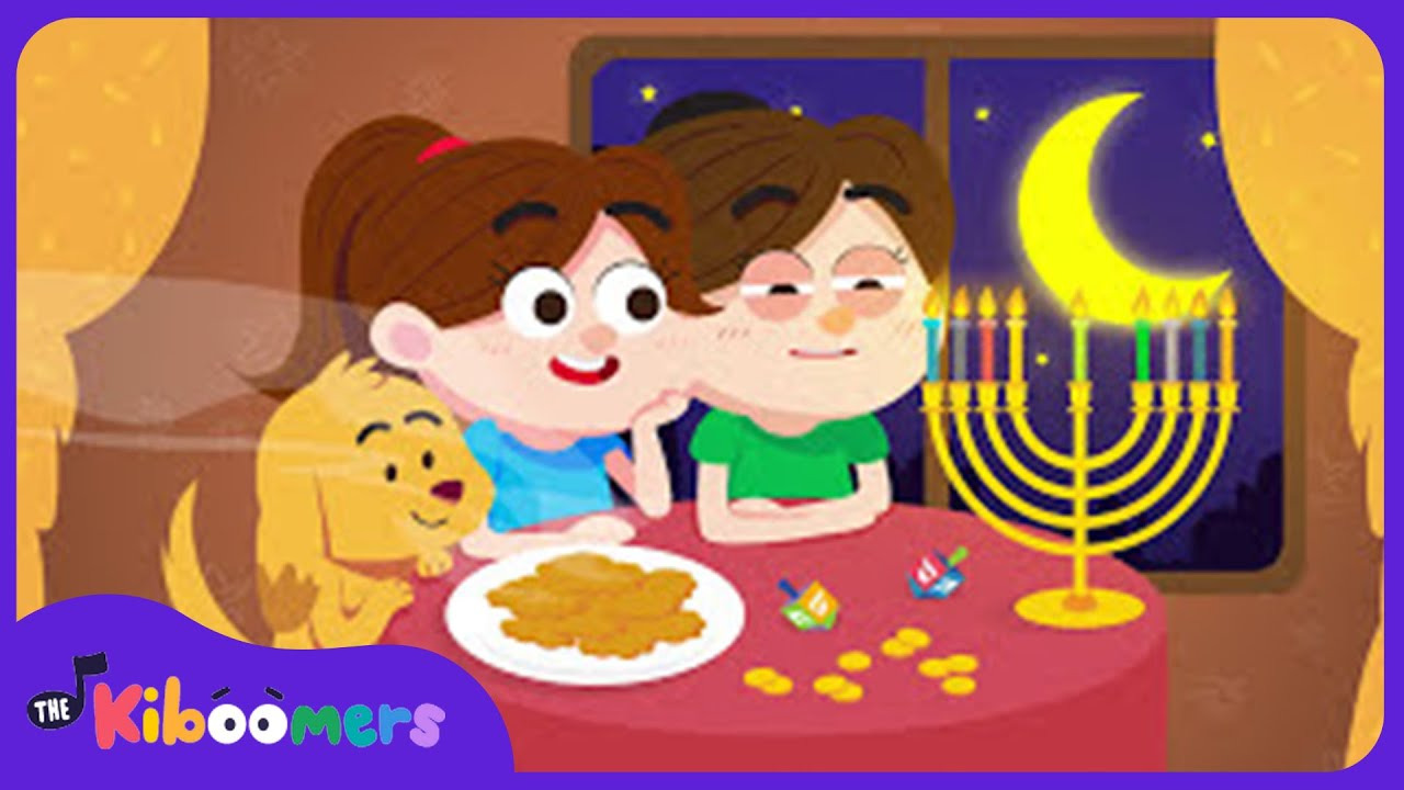 Light the Candles Bright Hanukkah Song for Kids Chanukah Song
