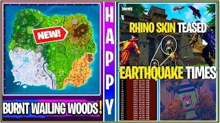 *NEW* Fortnite: BURNT Wailing Woods Gameplay Leak, Prisoner 4th Stage Tutorial, & Rhino Skin Tease!