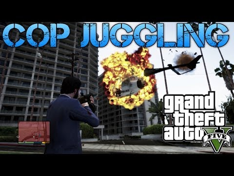 Grand Theft Auto V | COP JUGGLING | MORE FUN WITH CHEATS!