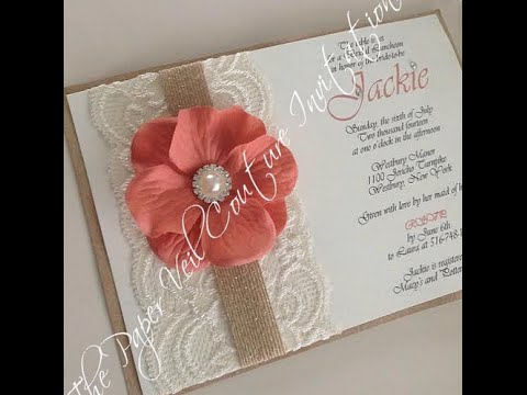 The most gorgeous lace quince invites of the web youtube the most gorgeous lace quince invites of the web solutioingenieria Image collections