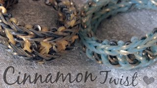 RAINBOW LOOM : Cinnamon Twist Bracelet - How to - Original Design // SoCraftastic Thumbnail