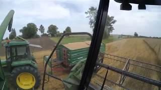 Vlog #19 Żniwa 2017 Pszeniczka odcinek #5 John Deere 1177 & 3650