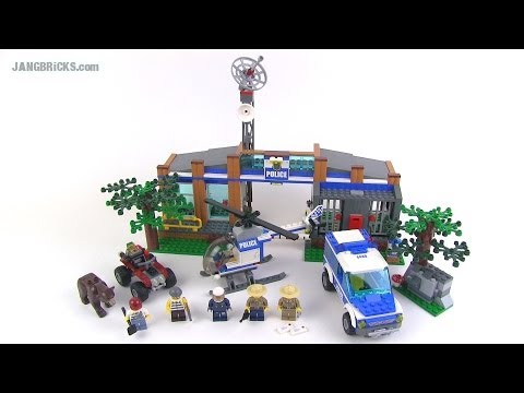 Lego City Forest Police Station 4440 Set Review Youtube