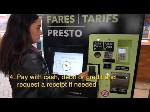 How Do I Purchase A PRESTO Ticket For Use On The TTC?