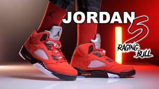 Jordan 5 Toro Bravo | Raging Bull | On Foot 4K