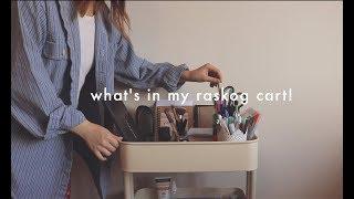 what's in my ikea raskog cart!