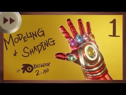 Iron Man INFINITY GAUNTLET in Blender 2.80