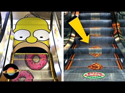 10 kreatywnych reklam na schodach ruchomych