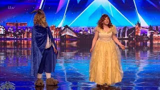 Britain's Got Talent 2018 Katherine & Joe Beauty and the Beast Full Audition S12E05