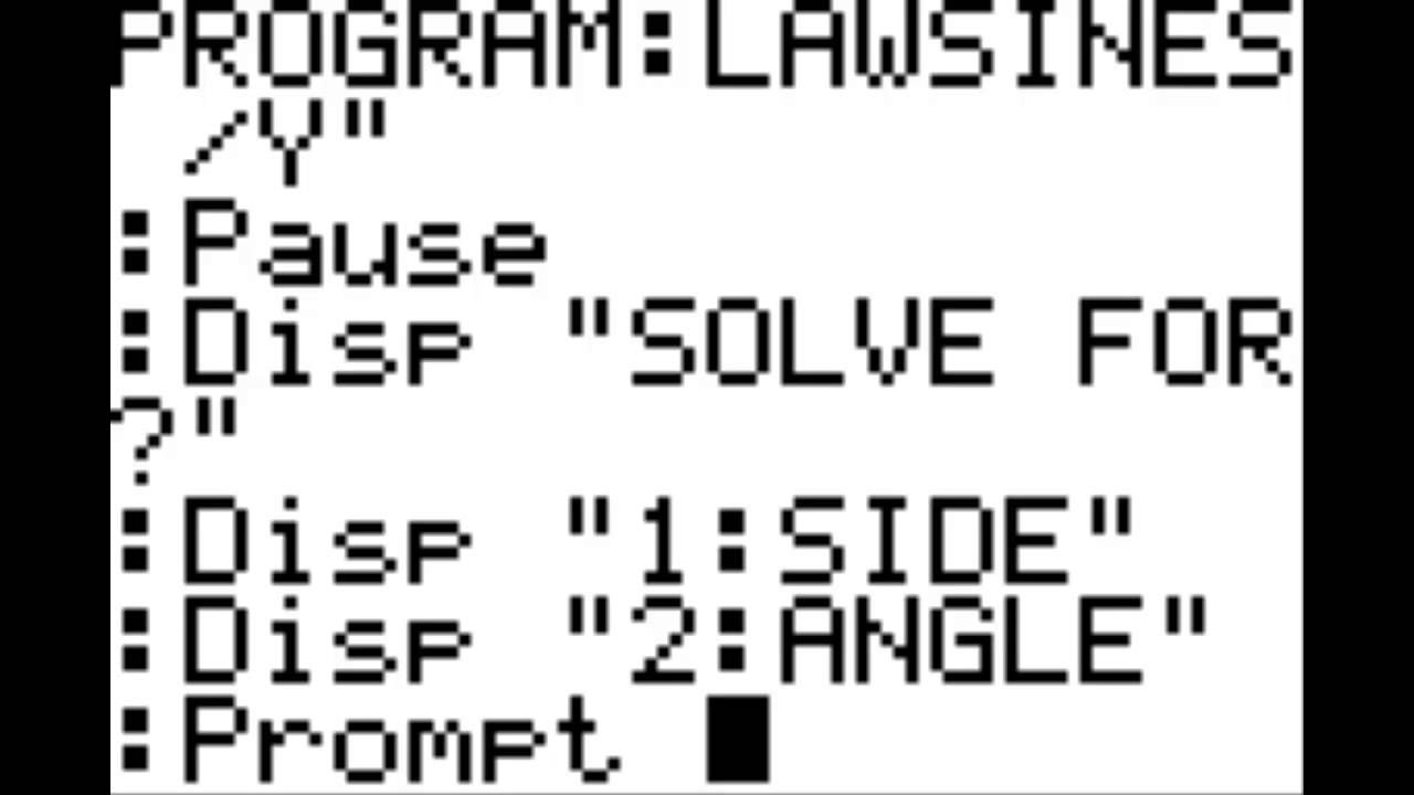 How to make a graphing calculator program.