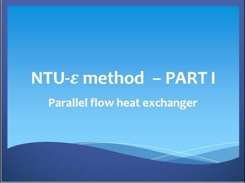 N.T.U. - effectiveness method in design of Parallel flow heat exchanger