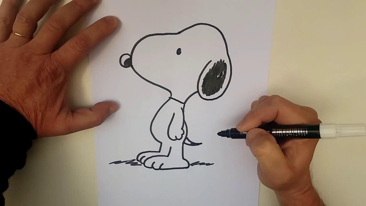 Como Desenhar Snoopy Passo A Passo Facil Youtube