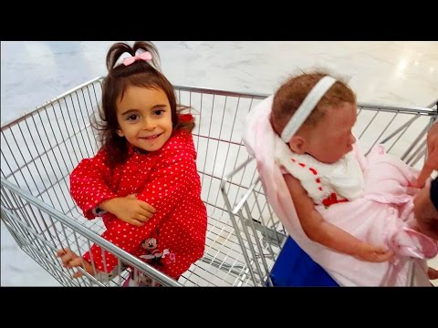 Thumbnail: Kids Shopping Trip /Shopping Cart with Silicone Baby Doll