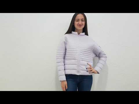 Легкая короткая фиолетовая куртка Miss Sun S176 био-пух