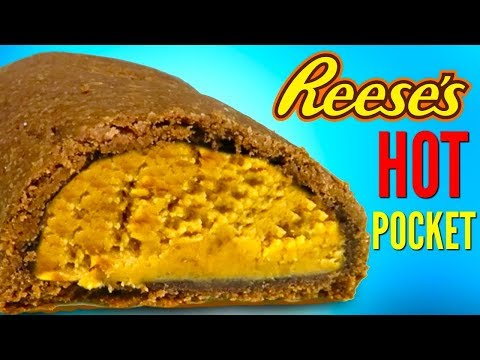 REESE'S HOT POCKETS – How To Make Peanut Butter Cups Candy Hot Pocket DIY