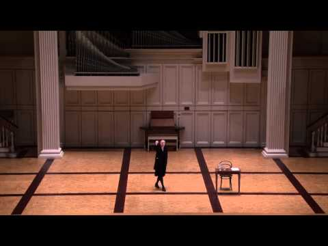 "Simona Giurgea performing Simone Weil's essay ""The Iliad or the Poem of Force�"