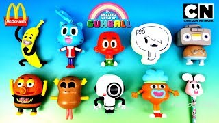 2018 McDONALD'S THE AMAZING WORLD OF GUMBALL HAPPY MEAL TOYS FULL WORLD SET 10 CARTOON NETWORK KIDS