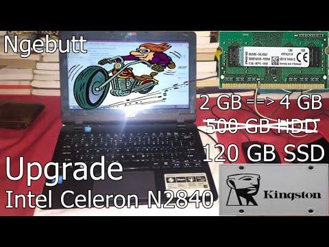 Upgrade Acer Intel Celeron | SSD 120GB + RAM 4GB | Superr Ngebutt