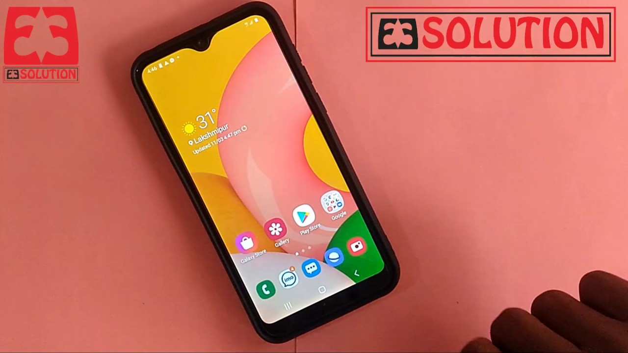 How To Change Wallpaper In Samsung Galaxy A01 Sm A015f Samsung S Galaxy A01 Sm A015f Theme Setup Youtube