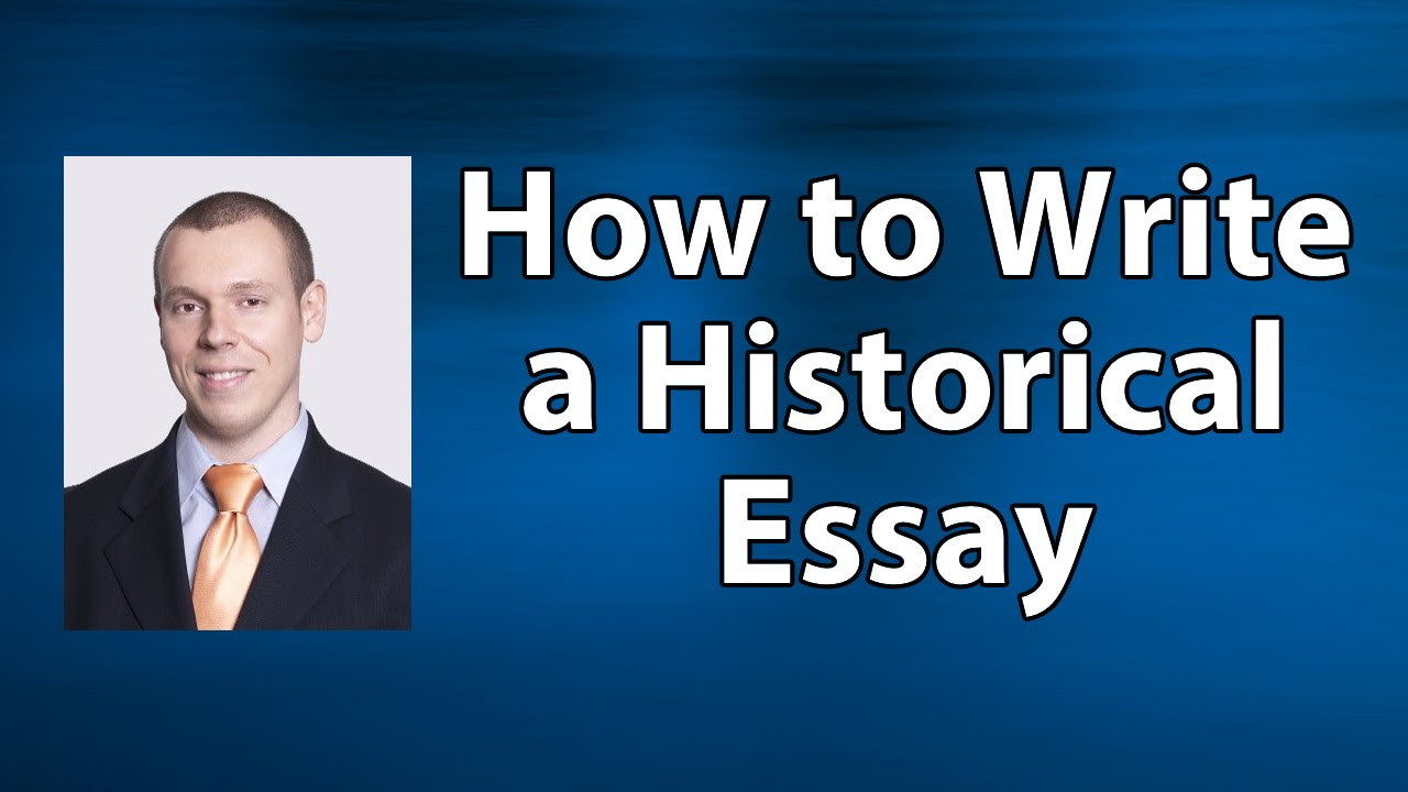 how to write a history essay