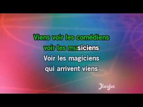 Karaoké Les comédiens - Charles Aznavour *